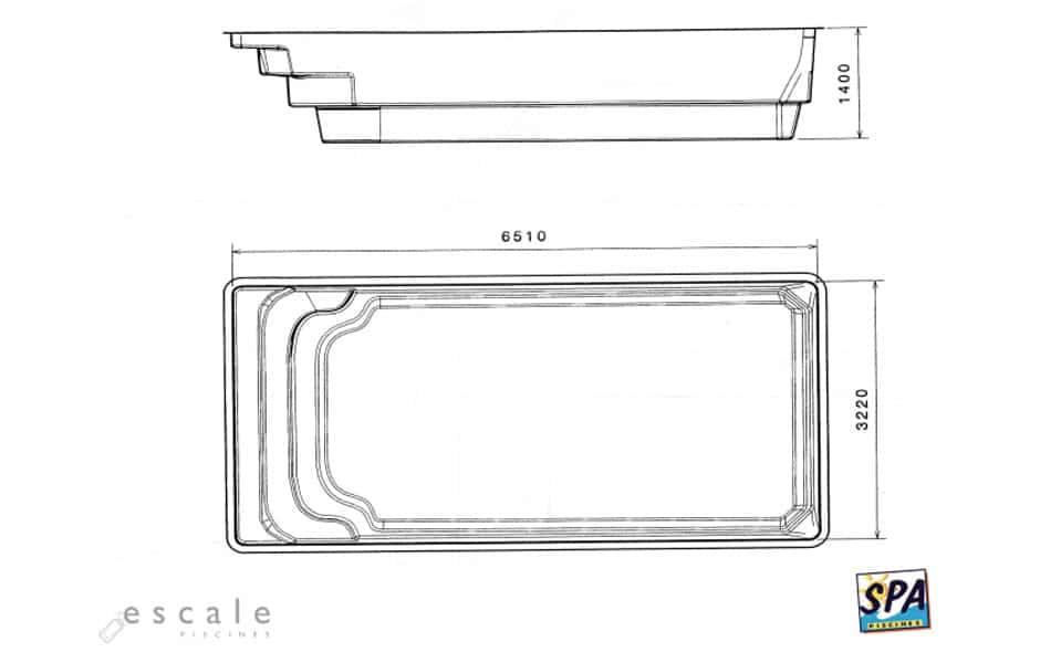 Modèle Piscine ANAA - SPA Piscines