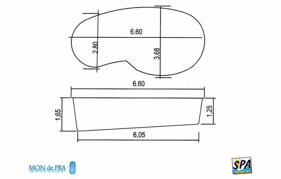 Modèle Piscine MdP 670 - SPA Piscines