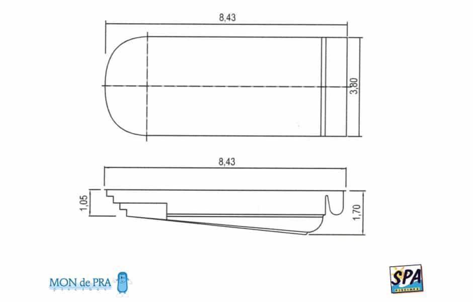 Modèle Piscine MdP 750 Coffre - SPA Piscines