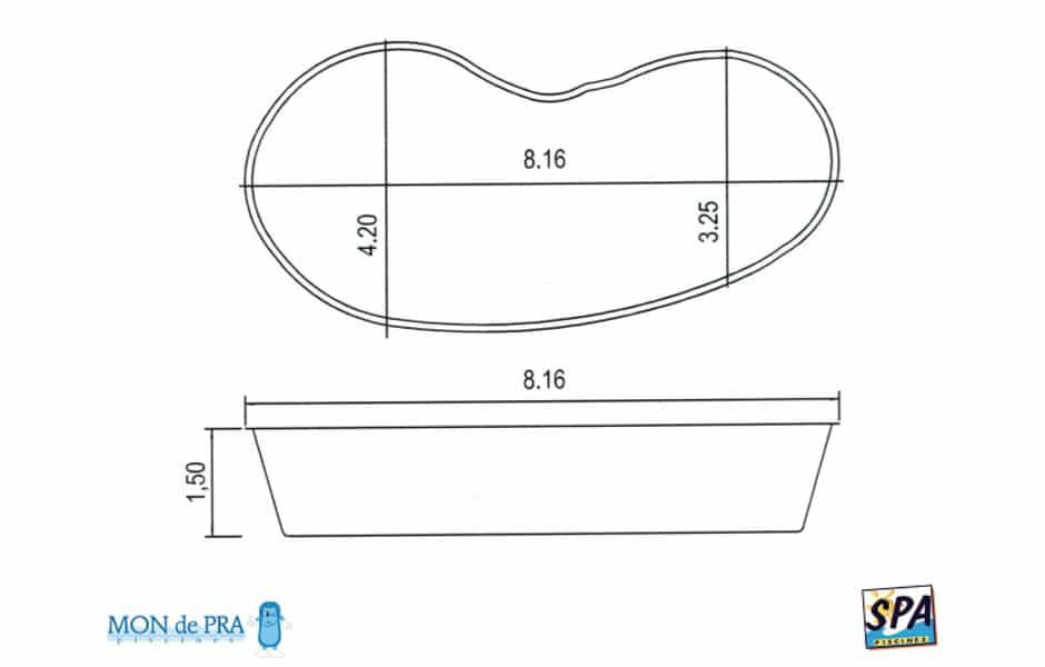 Modèle Piscine MdP 825 - SPA Piscines