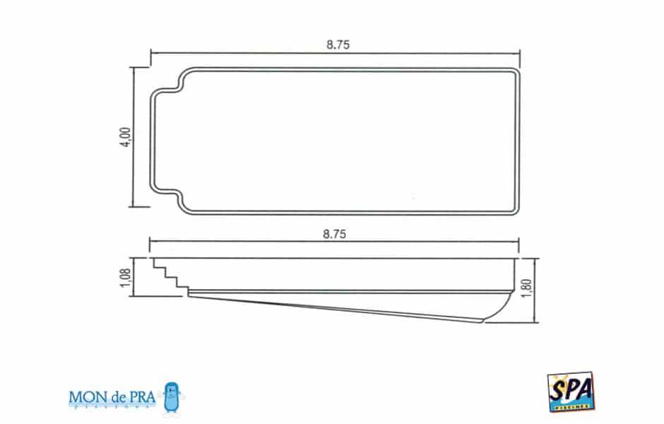 Modèle Piscine MdP 875 - SPA Piscines