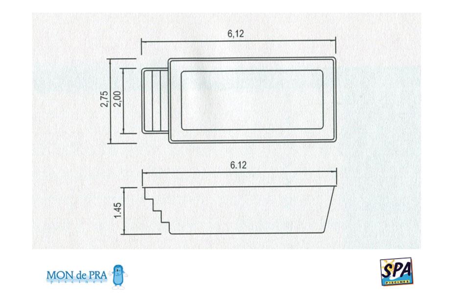 Modèle Piscine MdP COVI I - SPA Piscines