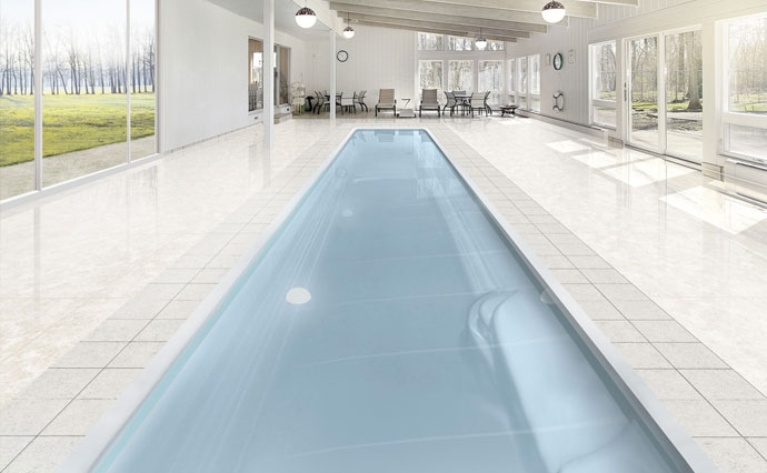 Photo piscine coque couloir polyester - MdP Lane