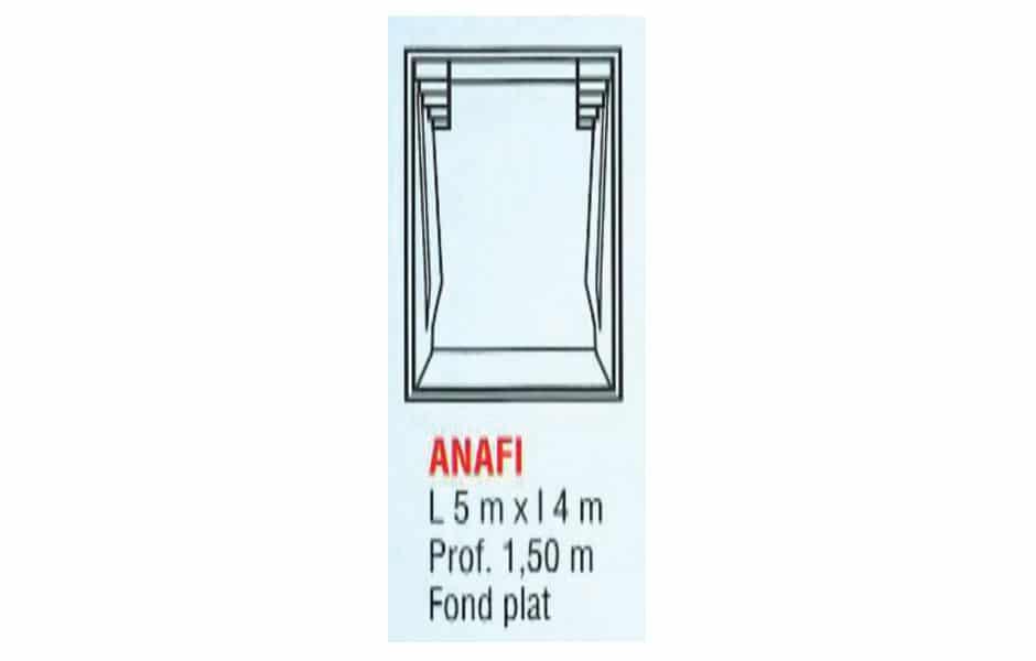 Modèle piscine coque polyester - Escale ANAFI - SPA Piscines