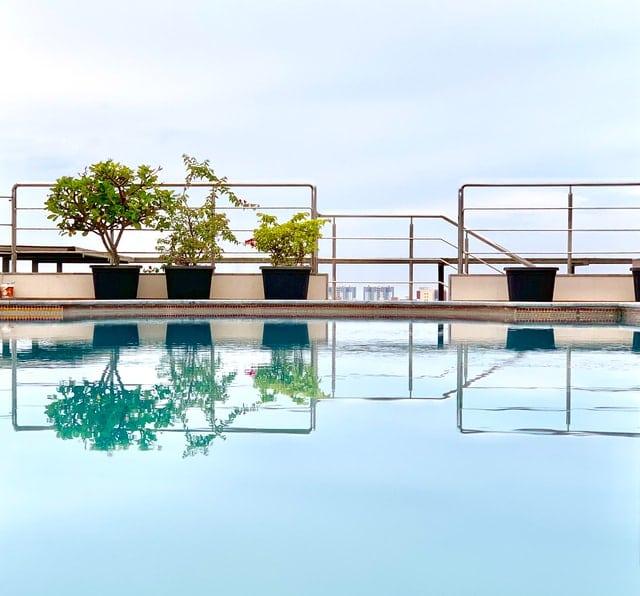 barrière de sécurité d'une piscine